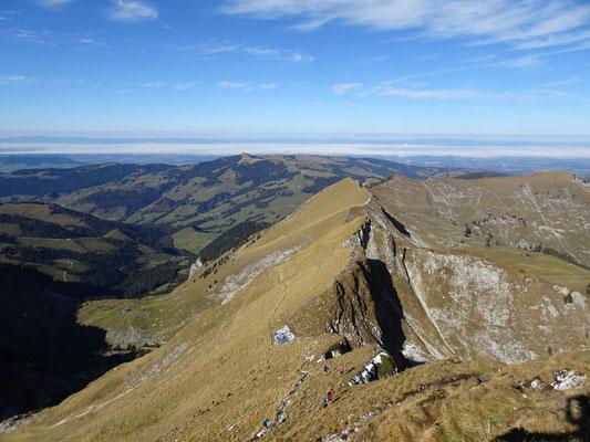 Blick vom Schopfenspitz ins nebelbedecke Mittelland