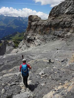 Abstieg von Rotstock zur Alp Eigergletscher