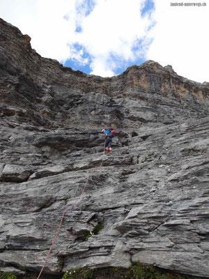 Abstieg mittels Seilen