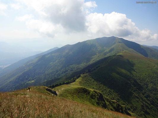 Blick auf Monte Gradiccioli und Monte Lema