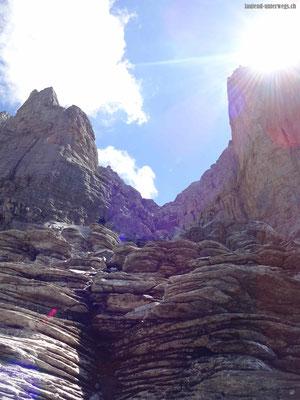 Klettersteig Rotstock - Kessel