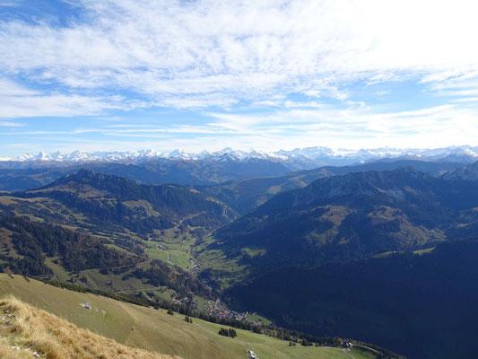 Blick vom Schopfenspitz in die Walliser Alpen