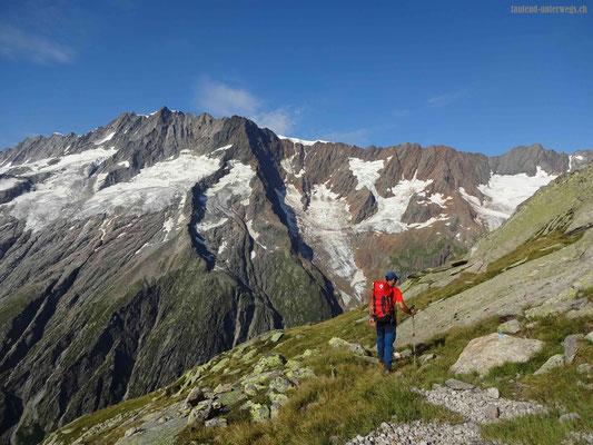 Sicht auf Gletscher
