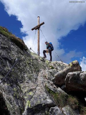 Klettersteig Jubilaeus mit Gipfelkreuz