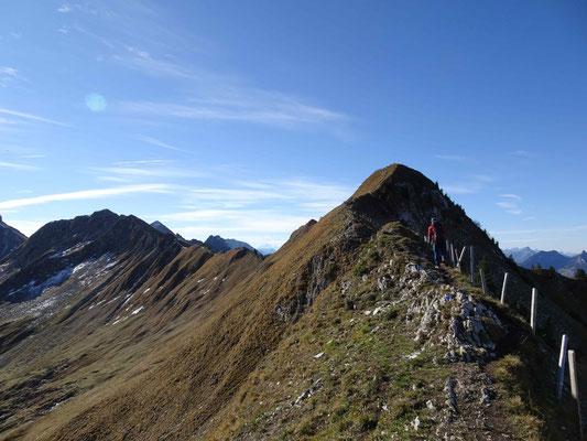 Aufstieg von Col du Chamois nach Patraflon