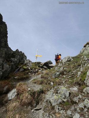 Wanderung auf den Col de la Golette - Pass