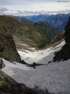 Schneefeld nach Bocchetta d' Erbea