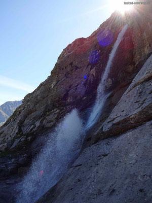 Wasserfall mit Fontäne