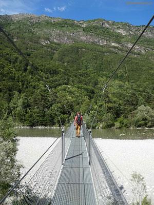 Hängebrücke bei Someo