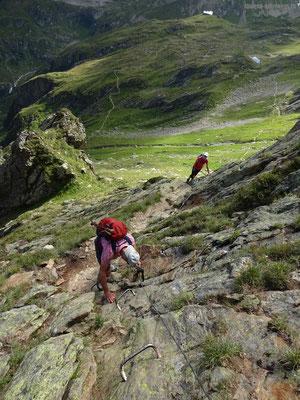 Vom Leidsee in Richtung Leutschachhütte