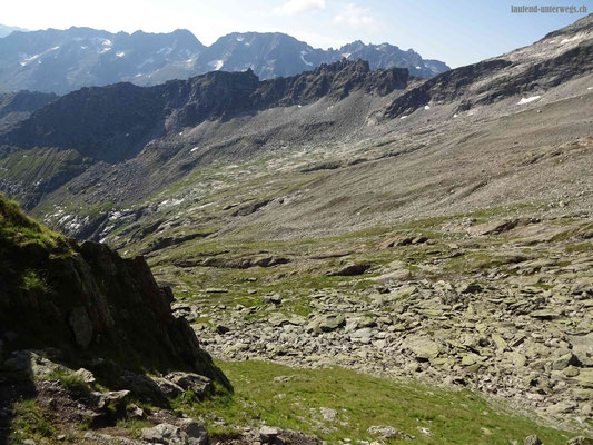 Blick vom Horenfellistock Richtung Bergseeschijenlücke
