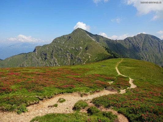 Blick zurück auf den Monte Tamaro