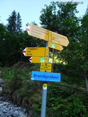 Saxeten in Richtung Bradgraben