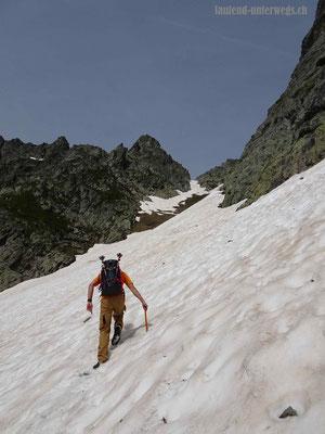 Wanderung auf den Col de la Golette - Couloir