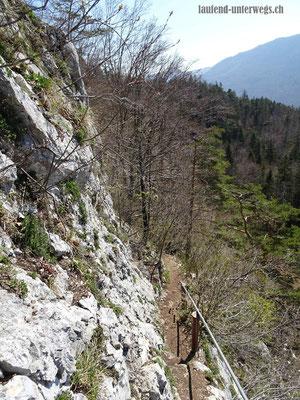 Abstieg vom grossen Bärenloch