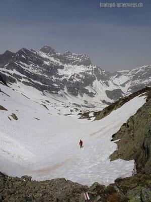 Abstieg vom Col de la Golette nach Lac de Salanfe