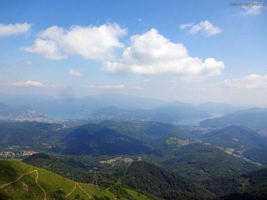 Blick vom Monte Lema auf den Lago di Lugano