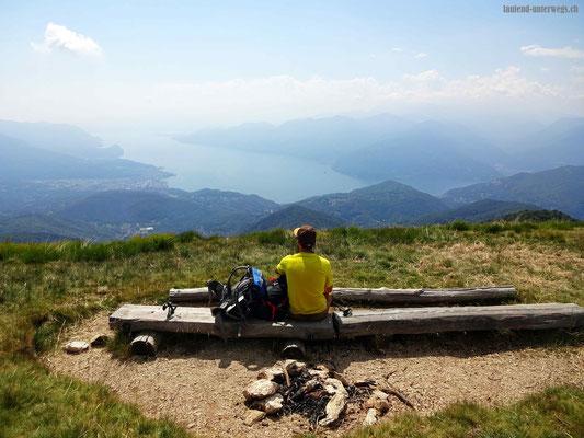 Blick vom Monte Lema auf den Lago Maggiore
