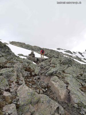 Weg zum Col de la Terrasse