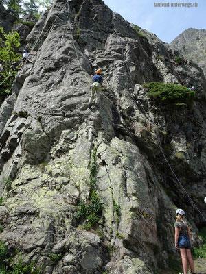 Wanderung von Lac de Salanfe nach Van d'en Haut - Kletterspot