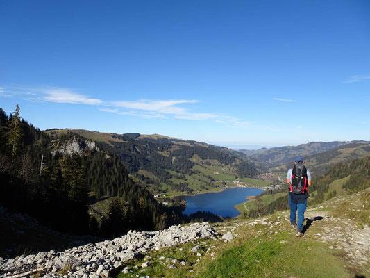 Blick nach Rippetli auf den Schwarzsee