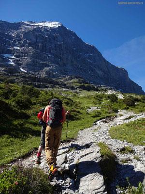 Sicht auf die Eiger-Nordwand