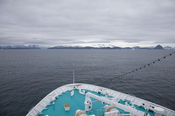 Der erste Blick auf Grönland
