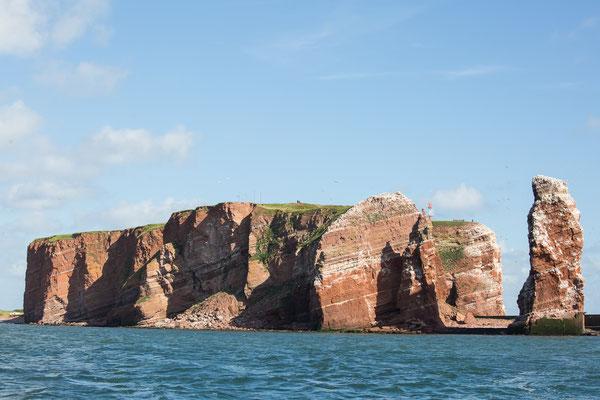 Die Insel, vom Wasser aus gesehen