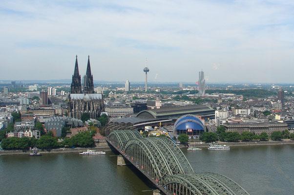 Köln-Panorama vom Köln-Triangle