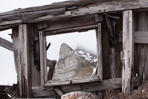 Trapperhütte am Fuß des Alkhornet