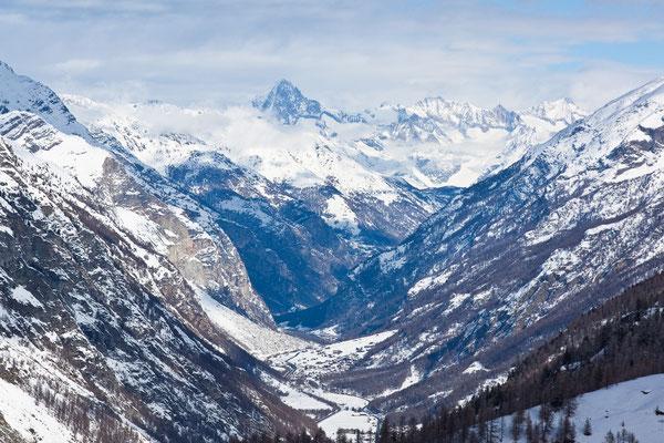 Blick auf die Bergwelt von Zermatt