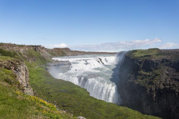 Der Gullfoss-Wasserfall