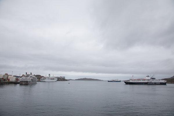 Noch drei weitere Kreuzfahrtschiffe im Hafen