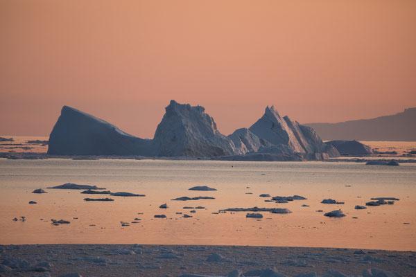 Sonnenuntergang vor Ilulissat - ohne Worte
