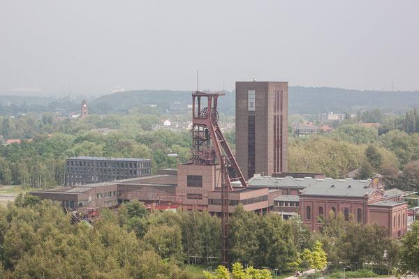 Blick von der Aussichtsterrasse der Zeche Zollverein