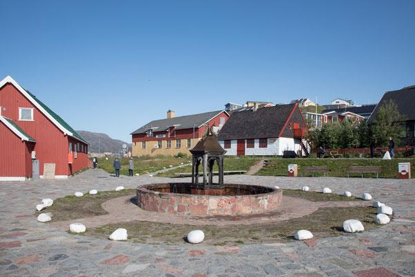 Der einzige Springbrunnen in Grönland