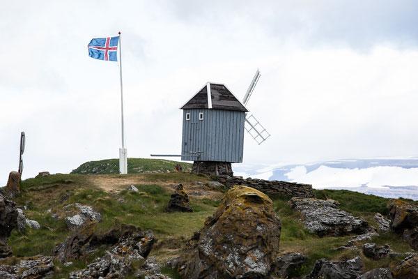 Eine Windmühle auf Vigur