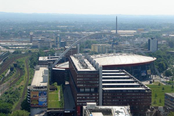 Vom Köln-Triangle - die Lanxess-Arena