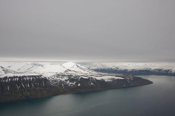 Spitzbergen von oben
