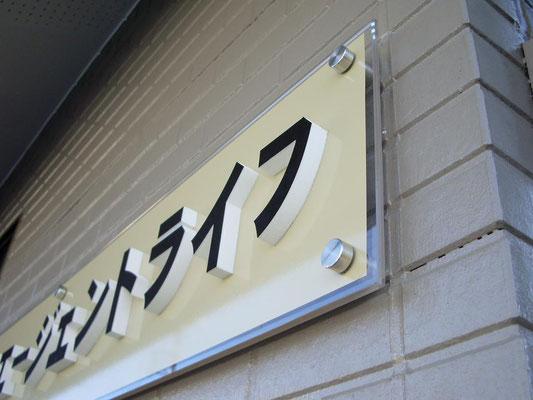 保険屋さんに設置したカルプの箱文字看板の事例