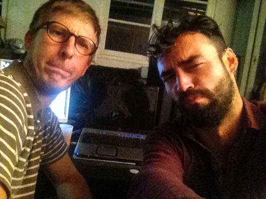 Premier enregistrement dans l'garage, fin 2014.