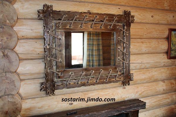 Зеркало на подвесах