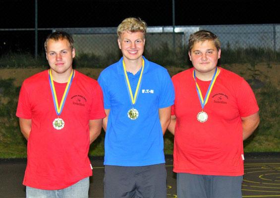Jugend: 2. Gerald Mayerhofer, 1. Karsten Kainz, 3. Bernhard Pfeisinger