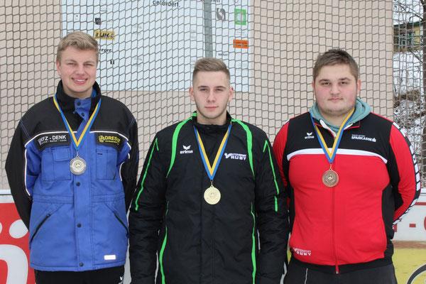 Jugend bis U23: 2. Karsten Kainz, 1. Philipp Fandl, 3. Bernhard Pfeisinger