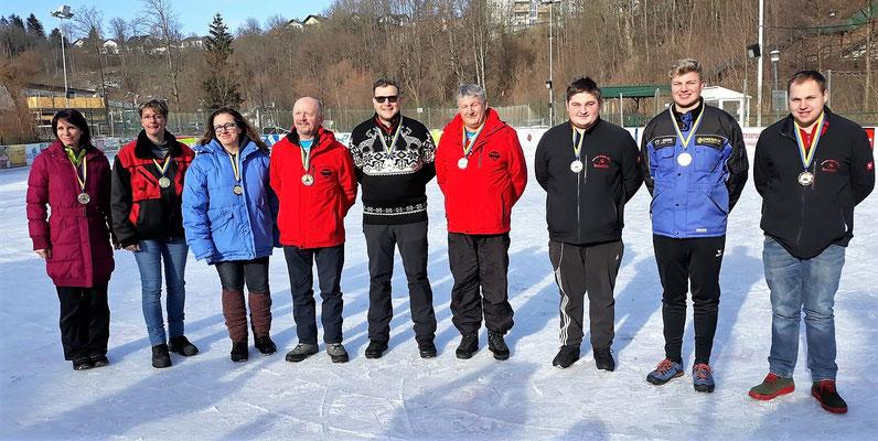 1. bis 3. Platz: Damen, Allgemeine Klasse Herren, Jugend Junioren bis U23