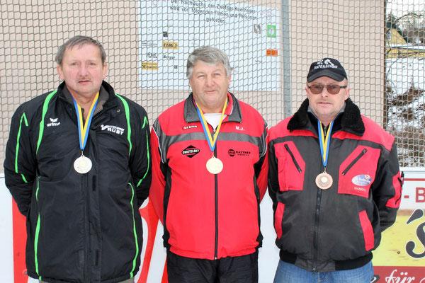 Senioren: 2. Johann Engelmayer, 1. Johann Meidl, 3. Manfred Fuchs