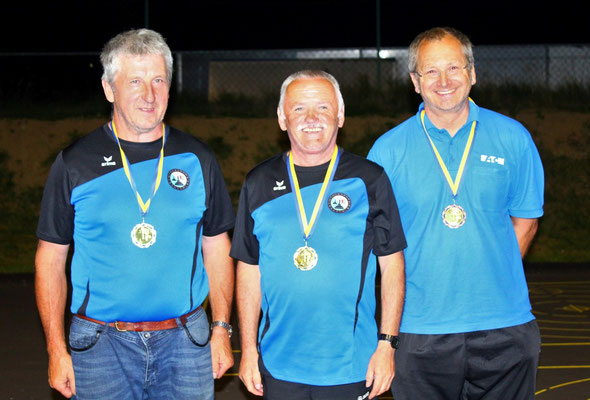 Senioren: 2. Erwin Amon, 1. Erich Prinz, 3. Andreas Kainz