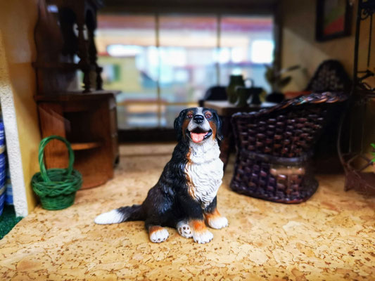 Puppenhaus Hund Bernadiner Bernersennen Hund