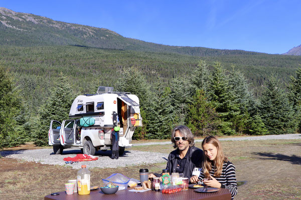 Breakfast in Dyea Campground