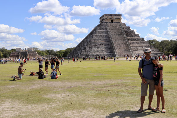 After our Flamingo trip in Celestun we head straight to the all famous Chichen Itza which belongs to the seven wonders of the world